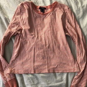 Stripped slightly cropped long sleeve